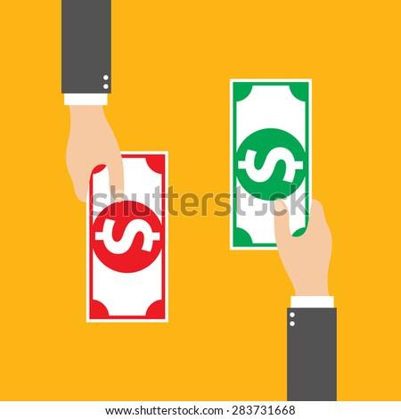 Money Exchange, vector - stock vector