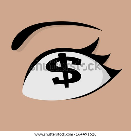 money eye concept