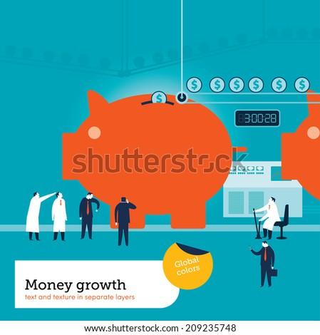 Money Factory - stock vector