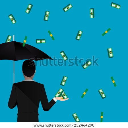 Money falling concept image. Vector eps 10 - stock vector