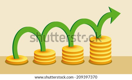Money growing - stock vector