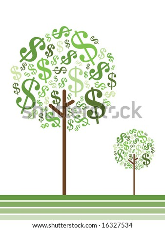 money growing on trees, dollars