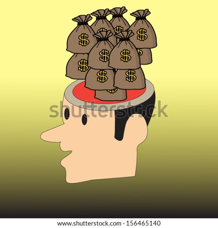 Money head - stock vector