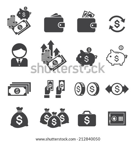 money icon - stock vector