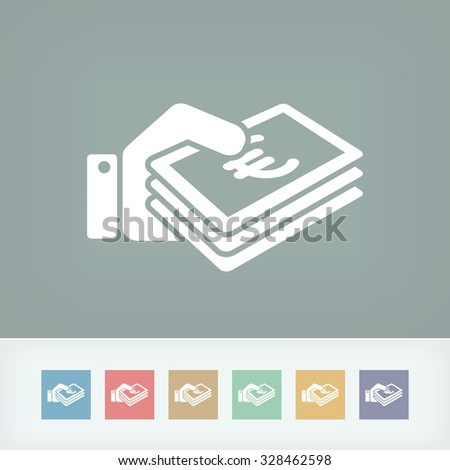 Money icon - Euro - stock vector