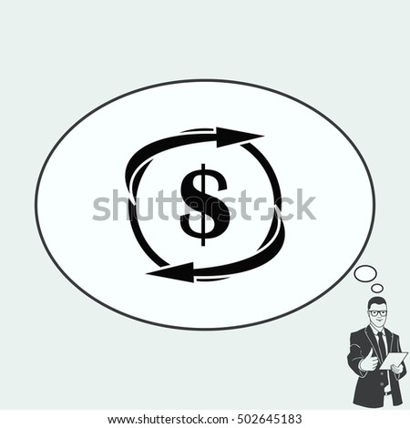 Money icon, Finance Icon, vector illustration. Flat design style.