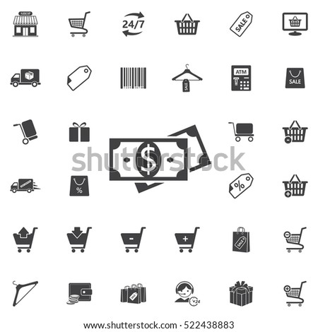 Money icon. Universal Shop set of icons for web and mobile