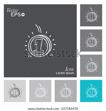Money icon - vector, illustration. - stock vector