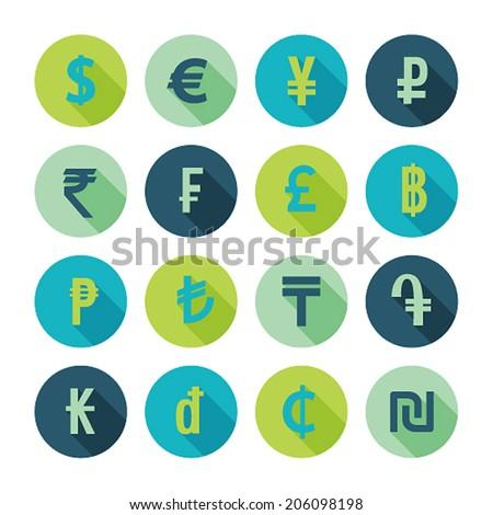 Money icons set. Vector illustration. - stock vector