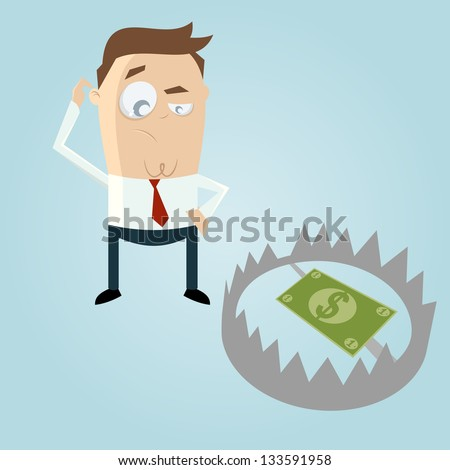 money in a trap - stock vector