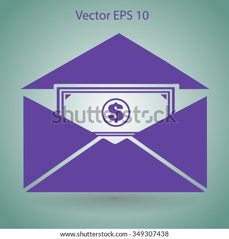 Money in an envelope vector illustration