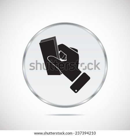 Money in the hand vector icon - stock vector