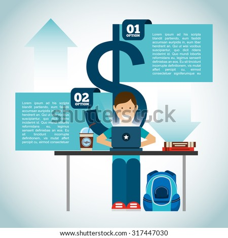 money infographic design, vector illustration eps10 graphic  - stock vector