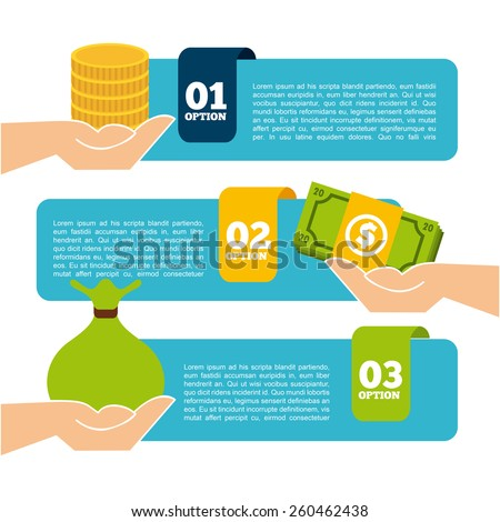 money infographics design, vector illustration eps10 graphic  - stock vector