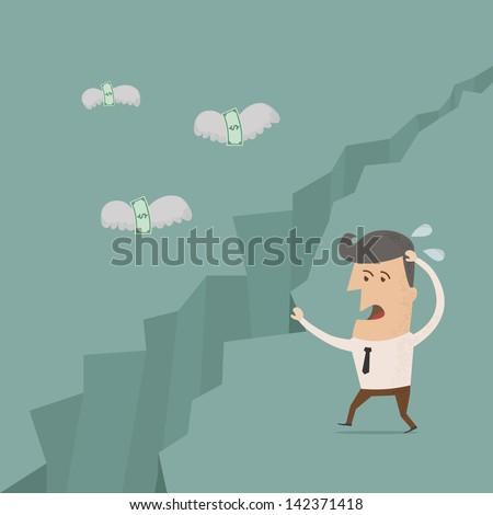 Money is flying away  , eps10 vector format - stock vector