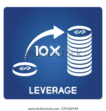money leverage - stock vector
