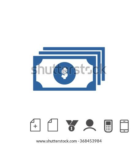 money . line vector icon - stock vector