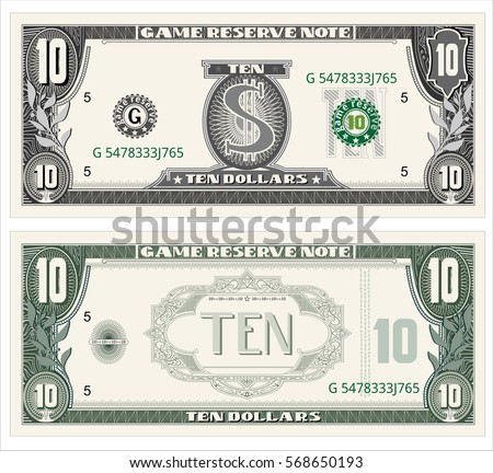 Dollar Images RoyaltyFree Images Vectors – Money Note Template