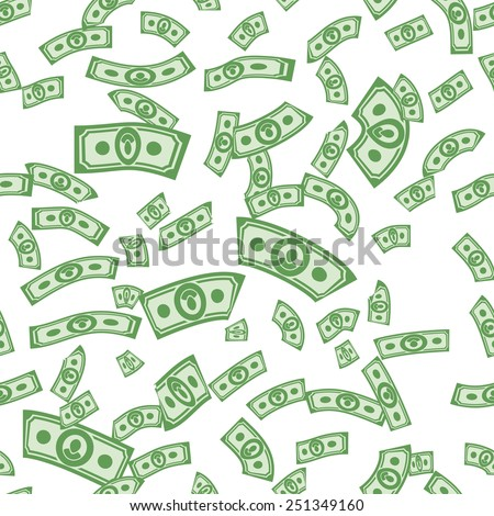 Money patterns seamless, money background from dollars - stock vector