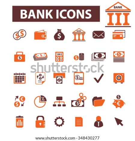 Money payment, cash, bill, insurance, finance, bank, card, transfer, atm, savings, investment, credit, profit, currency icons, signs vector concept set for infographics, mobile, website, application