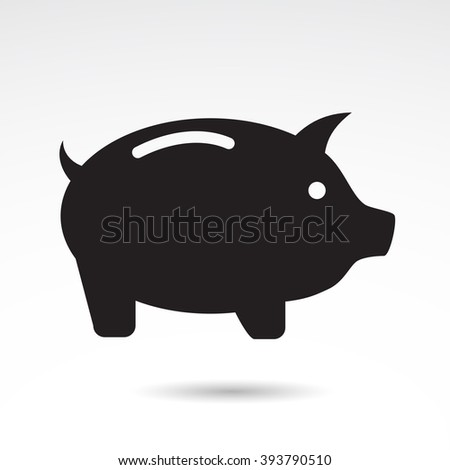money pig icon isolated on white stock vector 393790510 shutterstock