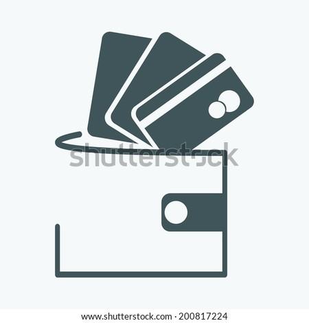 money purse icon - stock vector