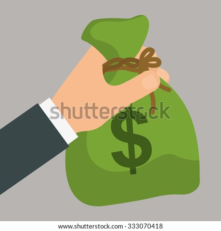Money saving and bank business graphic design, vector illustration. - stock vector