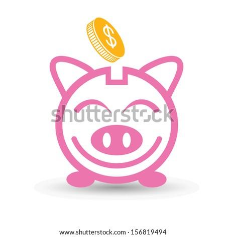 money saving concept - stock vector