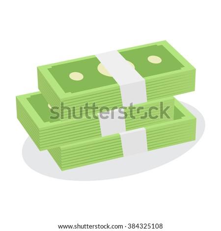 Money Stack Vector - stock vector