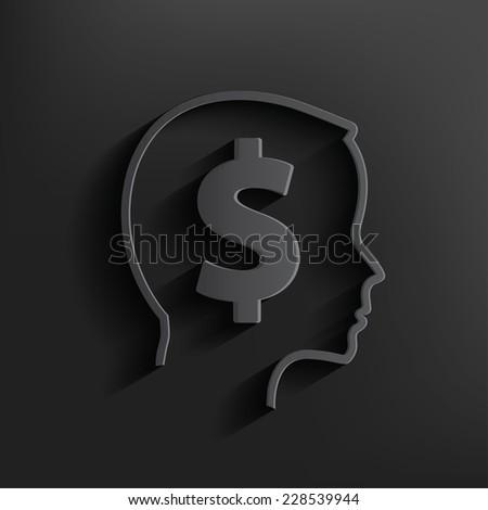 Money symbol on black background,clean vector - stock vector