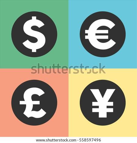 Money Symbols Vector Illustration Currency Symbols Stock Vector Hd