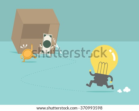Money trap the idea. Flat design for business financial marketing banking advertisement office people property in minimal concept cartoon illustration. - stock vector