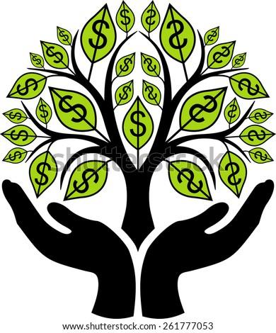 money tree stock vector hd royalty free 261777053 shutterstock rh shutterstock com Money Tree Drawing Wedding Money Tree Clip Art