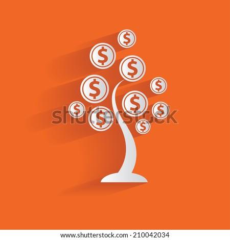 Money tree,clean vector - stock vector