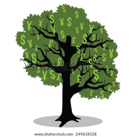 Money tree EPS 10 vector stock illustration - stock vector