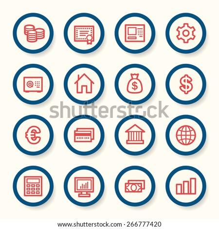 Money Web Icons - stock vector