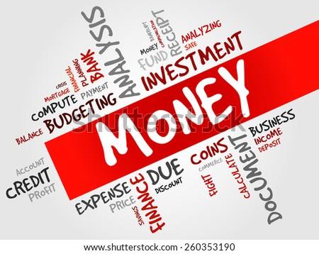 MONEY word cloud, business concept  - stock vector