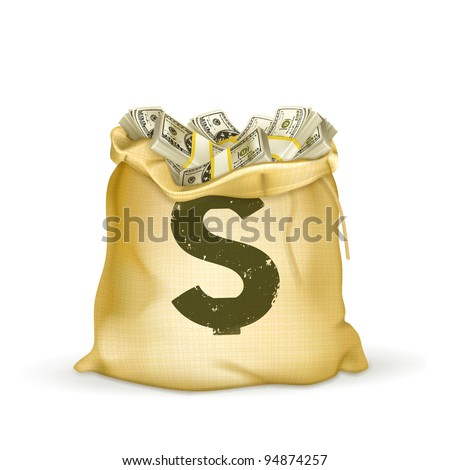 Moneybag 10eps - stock vector