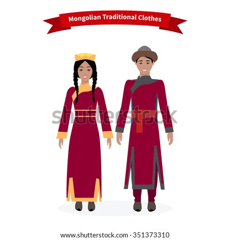 Mongolian traditional clothes people. Mongolian clothing national asian costume for festival man ethnicity  sc 1 st  Shutterstock & Mongolian Traditional Clothes People Mongolian Clothing Stock Vector ...