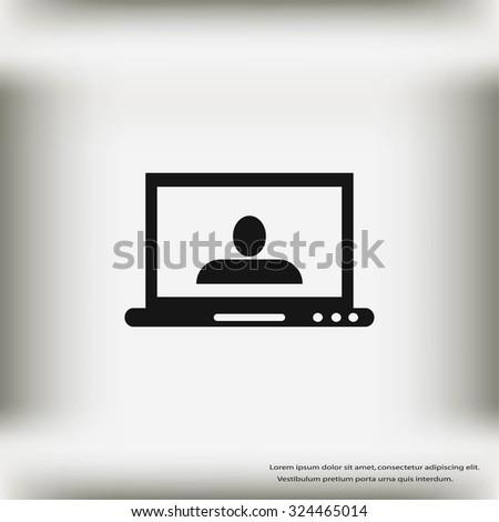 monitor icon - stock vector
