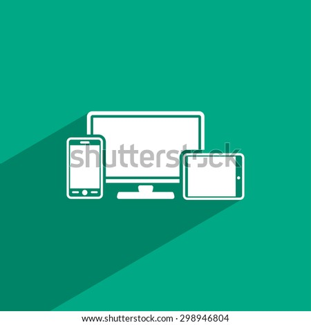 Monitor, phone, tablet  icon. One of set web icons - stock vector