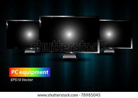 Monitor vector - stock vector