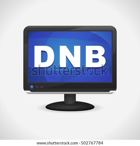 Monitor with DnB on screen for Web, Mobile App, Presentations