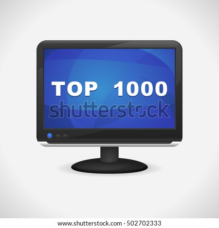Monitor with Top 1000 on screen for Web, Mobile App