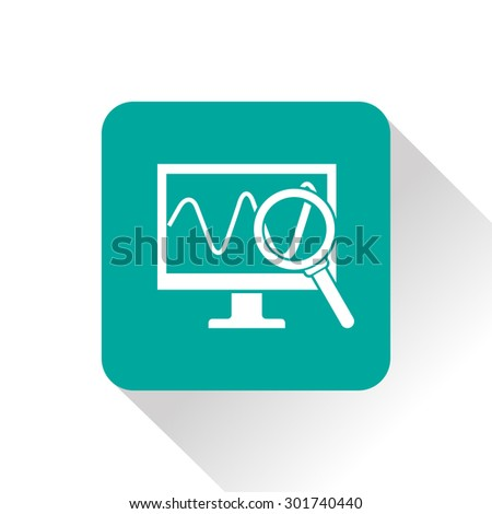 Monitoring icon - stock vector