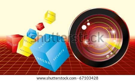 monitoring system - stock vector