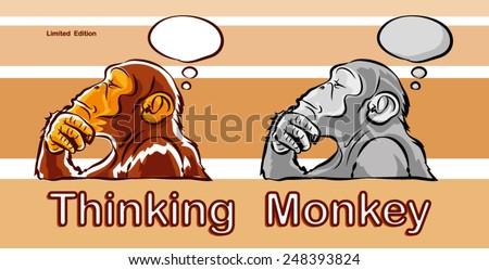 monkey - stock vector