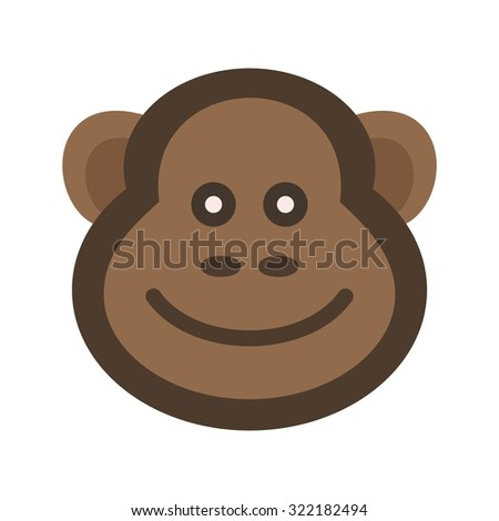 Monkey, animals, chimpanzee icon vector image. Can also be used for Animals and Insects. Suitable for mobile apps, web apps and print media.