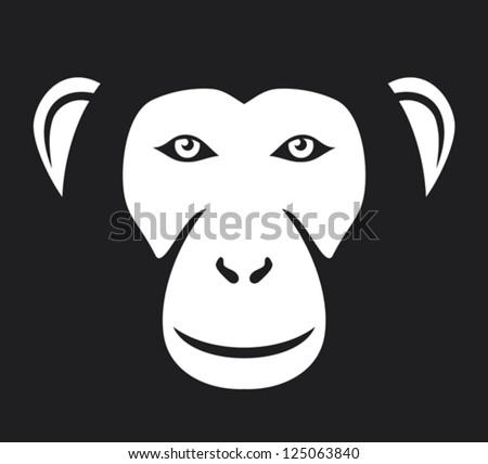 monkey (ape) head - stock vector