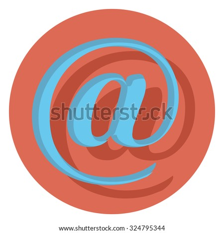 monkey flat icon in circle - stock vector